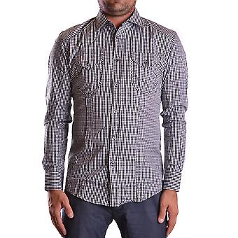 Daniele Alessandrini Ezbc107103 Men's Grey Cotton Shirt