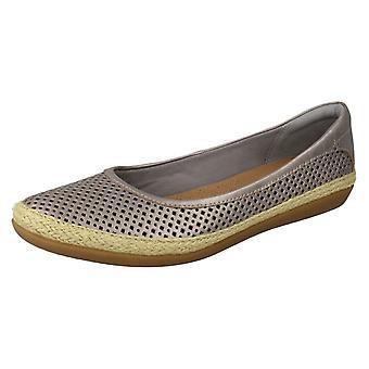 Ladies Clarks Summer Ballerina Flat Shoes