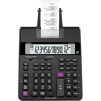 Casio HR-200 RCE kalkulator med innebygd skriver svart skjerm (sifre): 12 batteridrevet, Strømdrevet (valgfritt) (b x H x D) 195 x 65 x 313 mm