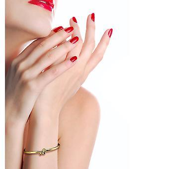 925 Sterling Silver Gorgeous Adjustable Knot Gold Bracelet