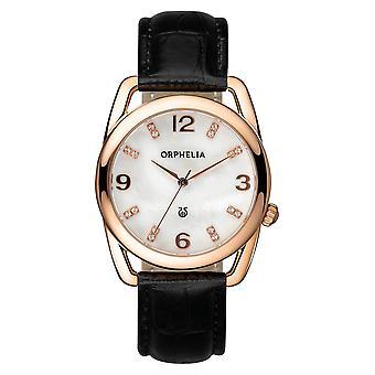 ORPHELIA Damen Analog Watch Classic Glam schwarz Leder 153-1722-11