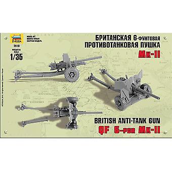 Zvezda Z3518British 6PFD Anti-Tank Gun Mk II