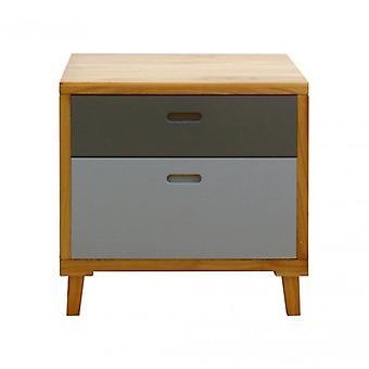 Meble Rebecca Nowoczesny komfort 2 szuflady grey brown wood 58x60x45