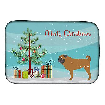 Carolines Treasures  BB2965DDM Pug Merry Christmas Tree Dish Drying Mat