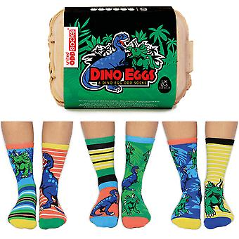 United Oddsocks Dino Eggs Socks Gift Set For Boy's