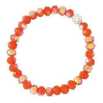 Eeuwige collectie Majestic vurige oranje kristal stretch kralen armband