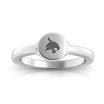 Texas State University Engraved Sterling Silver Signet Ring