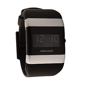 Wize and Ope Classic Black and Silver Digital Watch WO-001