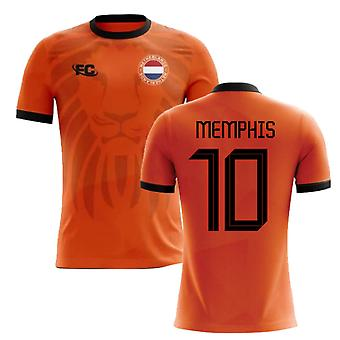 2018-2019 Holland Fans Culture Home Concept Shirt (MEMPHIS 10) - Manga Comprida Adulta