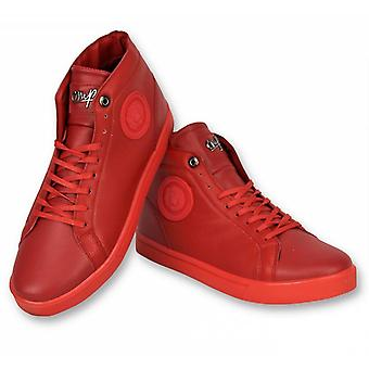 Shoes - Sneaker Lion Red Silver - Red