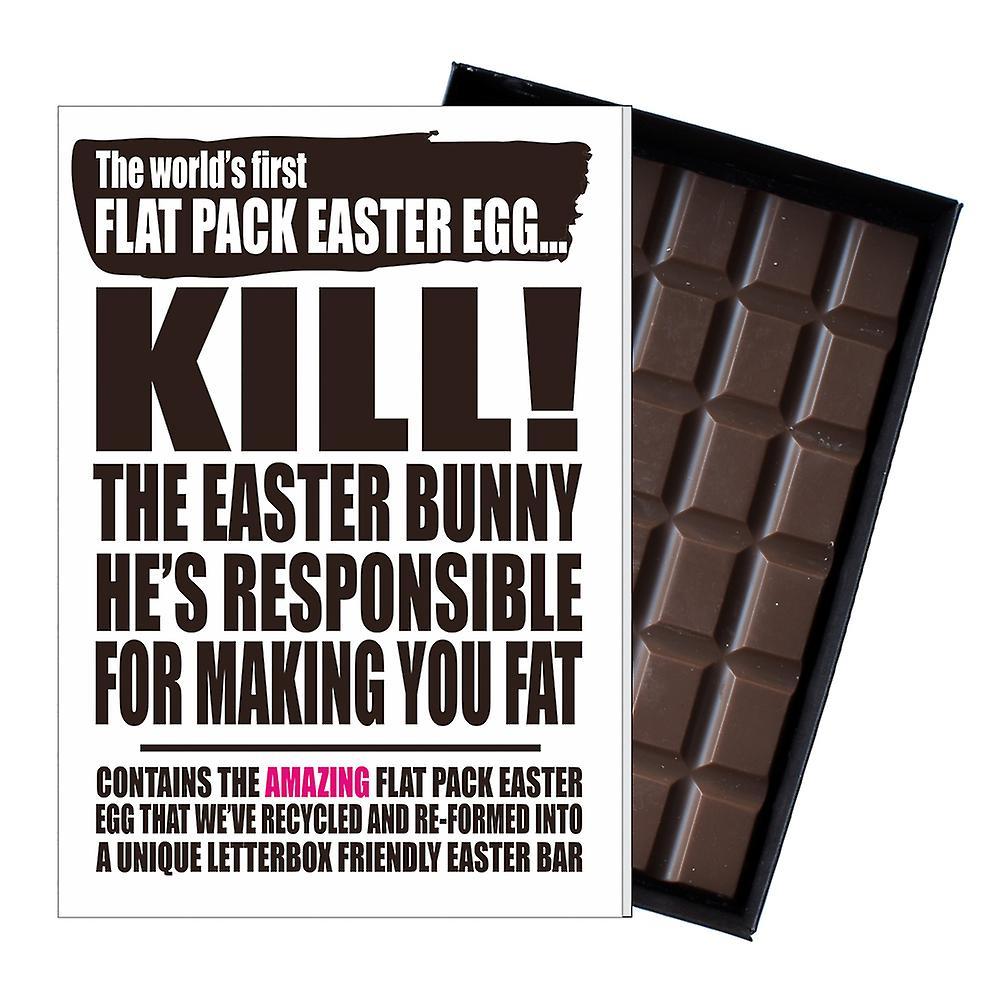Funny Flat Easter Egg Chocolate Bar Greeting Card Gift Boyfriend Girlfriend UK EIYF117