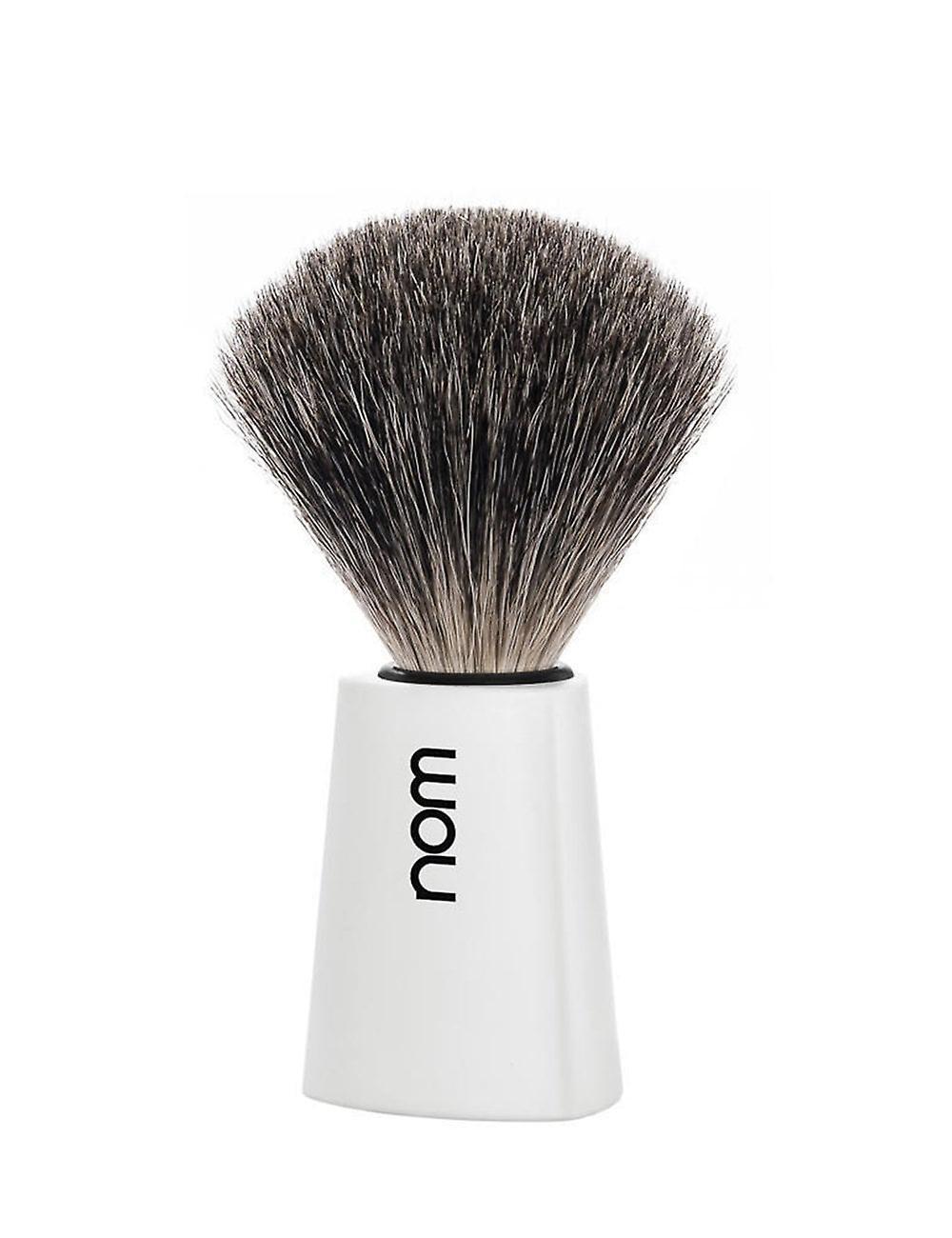 Nom Carl Pure Badger Shaving Brush - White