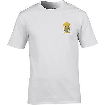 Royal Munster Fusiliers Veterano - Licencia Del Ejército Británico Bordado Camiseta Premium