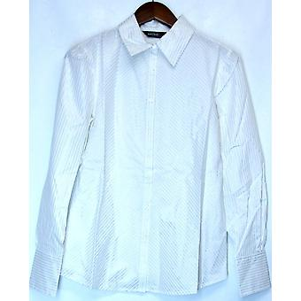 Elisabeth Hasselbeck for Dialogue Button Front Shirt White A89248