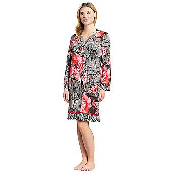 Féraud 3191010-10005 Women's Couture Black Multicolour Cotton Night Gown Nightdress