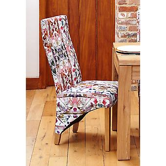Oak Full Back Upholstered Dining Chair - Modena (Pack of Two)- Baumhaus