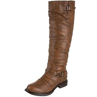 Madden Girl Womens fayettee NuBuck Almond Toe Mid-Calf Cold Weather Boots