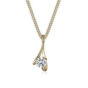 Elli 14 carat yellow gold Round white Zirconia cubic FINENECKLACEBRACELETANKLET