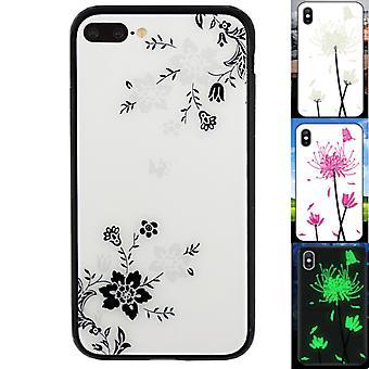 iPhone 8 Plus und 7 Plus Fall Blumen - BackCover Magic Glass 1