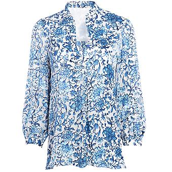 Alice and Olivia Sheila Blouson Sleeve Henley Top