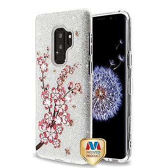 MYBAT Spring Flowers Diamante Full Glitter TUFF Hybrid Case pour Galaxy S9 Plus