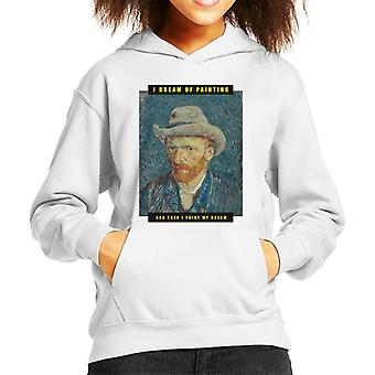 A.P.O.H Vincent van Gogh I Dream Of Painting Quote Kid's Hooded Sweatshirt