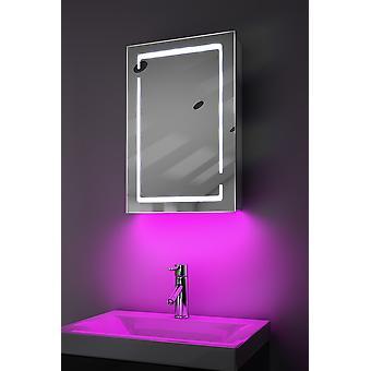 Páraszekrény LED-es világítással, érzékelővel és belső borotvával k350