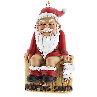 10cm Pooping Santa Christmas Tree Hanging Bauble Ornament