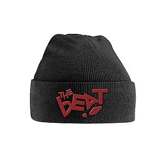 The Beat Beanie Hat Band Logo 2tone new Official Black Embroidered
