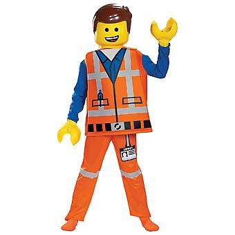 Emmet Brickowski Deluxe The Lego 2 Movie Minifigure Book Week Boys Costume