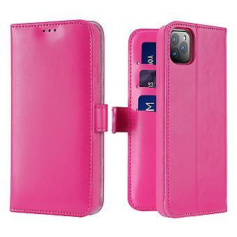 Dux Ducis kado iPhone 11 Pro lompakko kotelo lompakko kotelo vaaleanpunainen