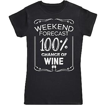 Weekend Forecast 100% Wine - Womens T-Shirt