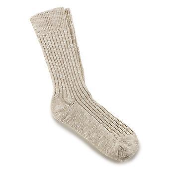 Birkenstock dame bomuld slub sokker 1002437 beige hvid