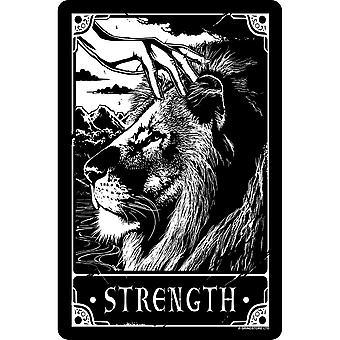 Deadly Tarot Strength Tin Sign