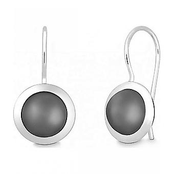 Quinn - Silver earrings with moonstone - 035839950