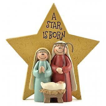 Der Himmel sendet einen Stern ist geboren Weihnachtsdekoration