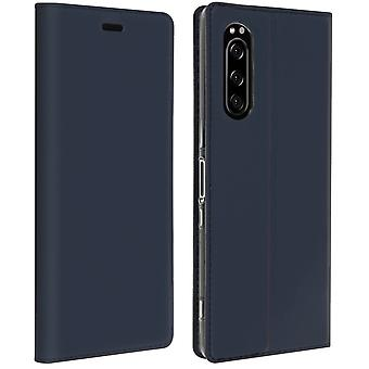 Case for Sony Xperia 5 Case Cards-holder Satnd Function - Dark Blue