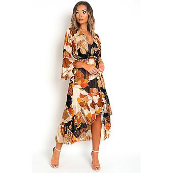 IKRUSH Womens Tori Printed Maxi Dress