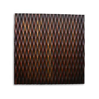 """1"""" x 36"""" x 36"""" Brown Metallic Ridge - Wall Art"""