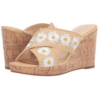 Jessica Simpson Women ' s SEENA2 sandália, branco Combo, 8,5 M US
