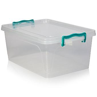 Hobby Life Pack Of 3 - 13 Litre Shallow Box With Clip On Lid - 021103