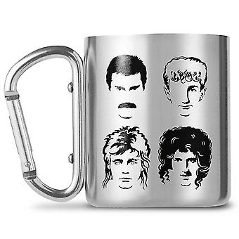Queen Band Faces Carabiner Mug