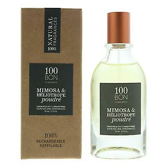 100BON Mimosa & Heliotrope Poudre Refillable Eau de Parfum Concentrate 50ml EDP Spray