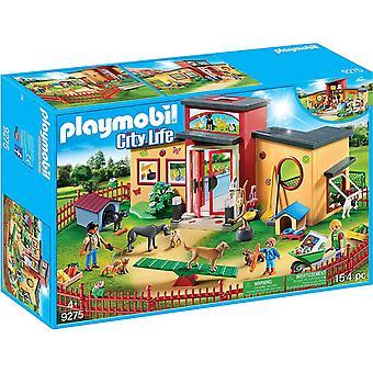 Playmobil-stadsleven Tiny Paws Pet Hotel met flexibele buiten omheining speelgoed