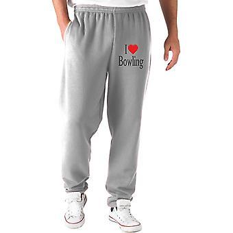 Pantaloni tuta grigio wtc1260 i love bowling