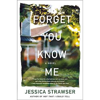 Forget You Know Me by Jessica Strawser