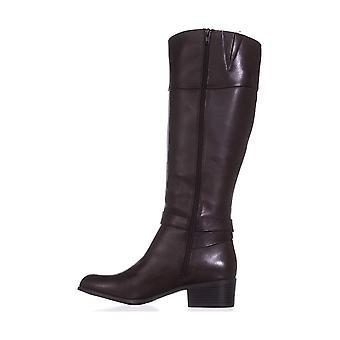 الأحذية الجلدية برن النسائي الفاني جولة تو الركبة صيحات الموضة