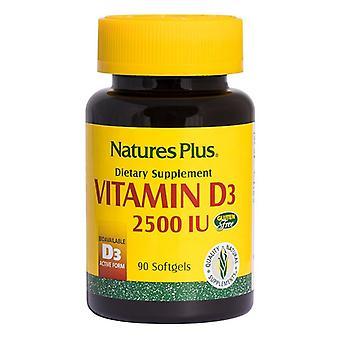 Nature's Plus Vitamin D3 2500iu Softgels 90 (1046)