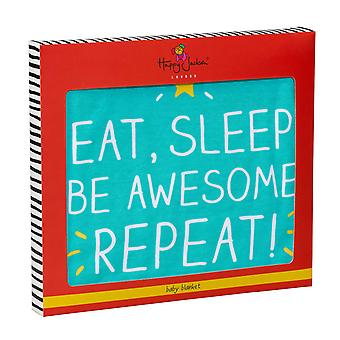 Eat Sleep Awesome Baby Blanket by Happy Jackson