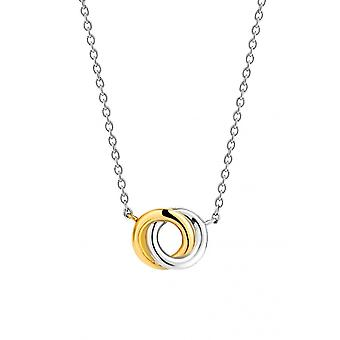 Ti Sento 3915SY necklace - silver intercolor rings s two-colored Women